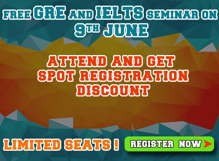 Free GRE and IELTS Seminar by Shiksha Ahmedabad